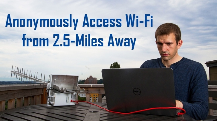 Access WiFi from 2.5 miles away
